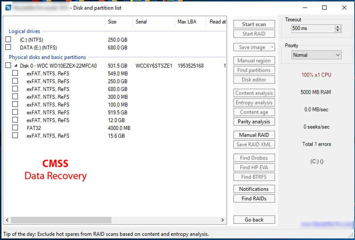 Desktop Failed Drive Recovery - Logical Recovery