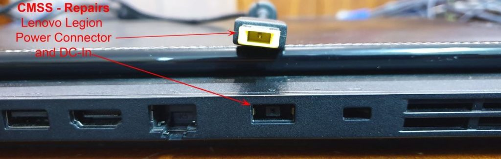 Dead Lenovo Laptop Legion - Charger Connector and DC-In